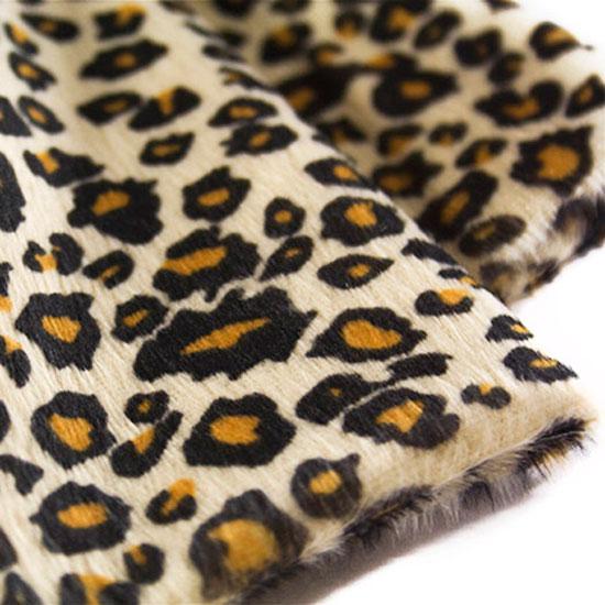 Мелковорсовый мех леопард (плюш)