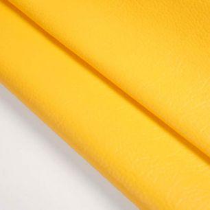 Кожзам для кукольных ботиночек - желтый, 25*23 см
