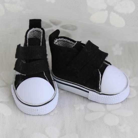 Обувь для кукол Кеды 5 см на липучках (черные)