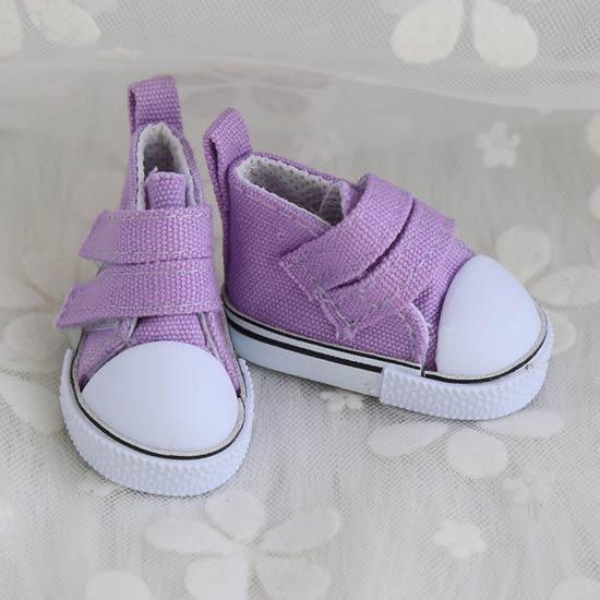 Обувь для кукол Кеды 5 см на липучках (сиреневые)