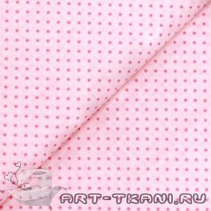 """Ткань """"Розовые точки"""" 0,5 метра- хлопок 100% (остаток)"""