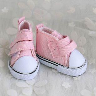 Обувь для кукол Кеды 5 см на липучках (светло розовые)