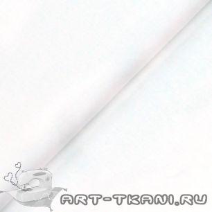 """Ткань """"Однотонная белая"""" 0,5 метра- хлопок 100%"""