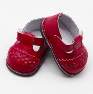 Обувь для кукол - сандалики красные